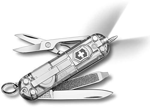 Victorinox Taschenmesser Signature Lite (7 Funktionen, Kugelschreiber, LED) silber transparent