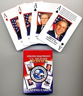 operation iraqi freedom us military heroes playing cards