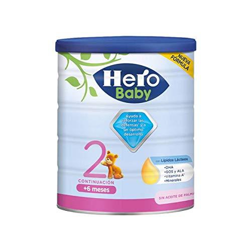 Hero Baby 2 - Leche de Continuación en Polvo para Bebés de 6 a 12 Meses - 1 unidad de 800g