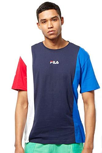 Fila T-Shirt Uomo Saint Tee Blu Rosso Bianco 687779 XL