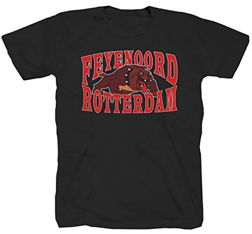 Rotterdam Ultras Hooligans Niederlande Football schwarz T-Shirt (L)
