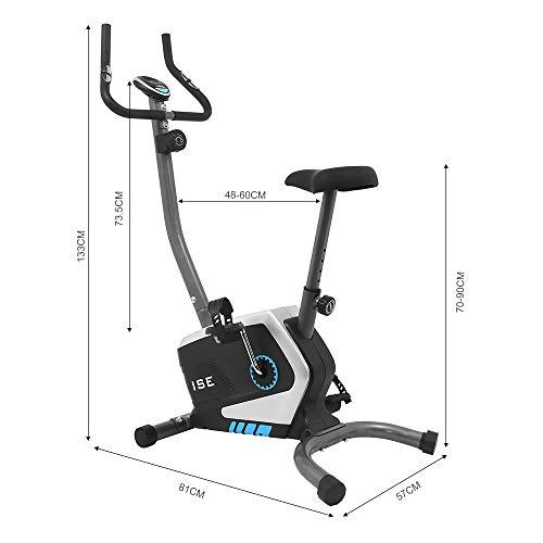ISE Fahrrad Ergometer Fitness Heimtrainer mit Pulssensoren SY-8801 - 8