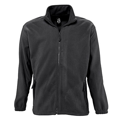 Sols Herren Outdoor Fleece Jacke North (4XL) (Grau Marl)