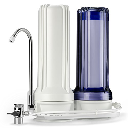 iSpring CKC2 High Output 2 Stage Countertop Water Filtration Dispenser System- Includes Activated Carbon and Carbon Block Filters