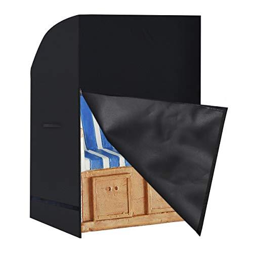 Tesmotor Strandkorb Schutzhülle Winterfest Abdeckung für Strandkorb - Wasserdicht, Winddicht, UV-Beständiges, Schwerlast Reißfest 420D Oxford Strandkorbhüllen 135x105x175/140cm