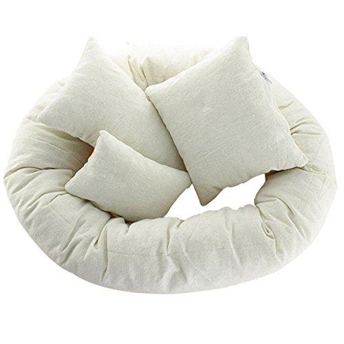 YideaHome新生児 コットン 枕 肌触りが良い 写真 撮影 道具 4個セット ベビー枕 赤ちゃん枕 快適...