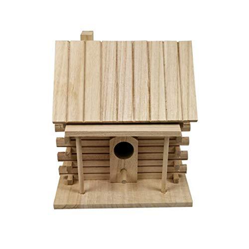 Earlyad Piccola Casetta per Gli Uccelli Nido di Uccello in Legno Scatola di Allevamento Caldo Ambiente Privo di Vernici Casa per Uccelli All'aperto Right