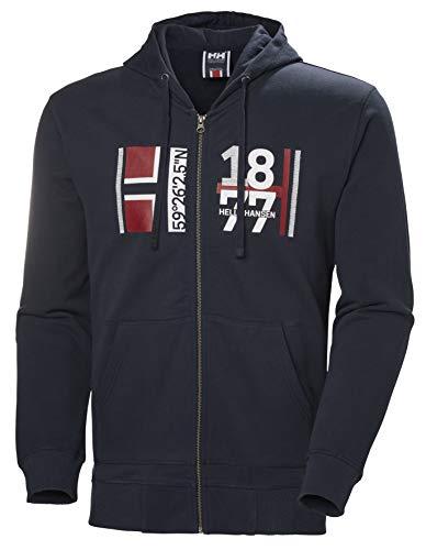 Helly Hansen 1877 FZ Hoodie Maglione Sportivo, Blu Navy 598, Medium Uomo