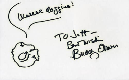 Buddy Ebsen - Signed Inscribed Self-caricature Max 44% OFF OFFicial mail order