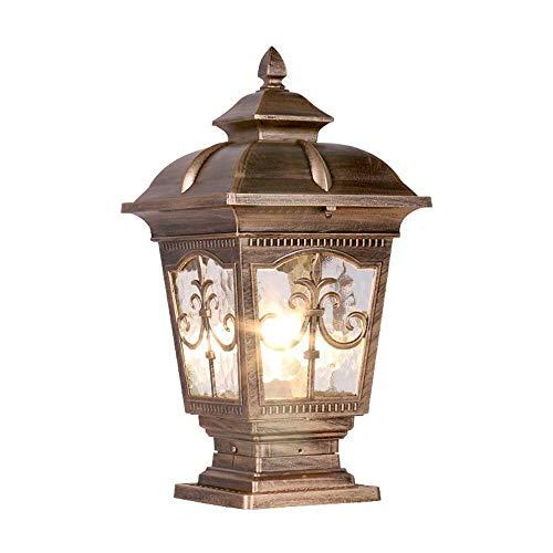 SYXX Paket, Trendtasche, European-Style wasserdicht Outdoor-Säule Lampe Moderne Dekoration IP65 Regen und Rost- Säule Lampe Hof Zaun Park Innenhof Pole-Lampe E27 Elektrische Säule Landschaftslampe