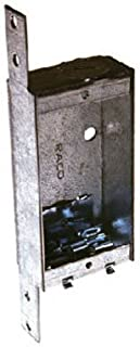 Hubbell-Raco 404 1-Inch Deep Switch Electrical Box, Welded with Side Stud Bracket, (1) 1/2-Inch End Knockout, (2) NMSC Cable Clamps, 3-3/4-Inch x 2-Inch