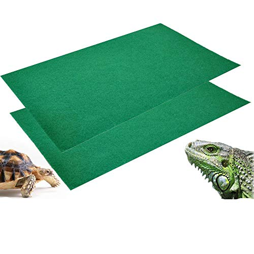 2Pcs Reptile Carpet Terrarium Bedding Substrate Liner Carpet for Lizard, Turtles, Snakes, Bearded Dragon, Iguana Supplies Mat