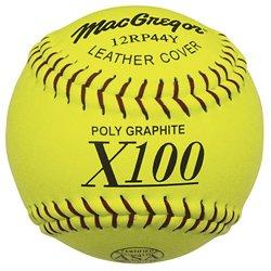 MacGregor X44RP ASA Slow Pitch Softballs, Yellow, 11-inch (One Dozen)
