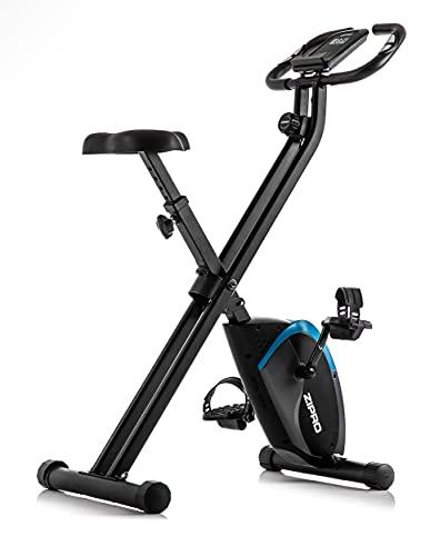 ZIPRO Cyclette da Allenamento FUTURE X, Bici da fitness, Home Trainer, Fitness Display LCD, Sensori delle Pulsazioni, 110kg