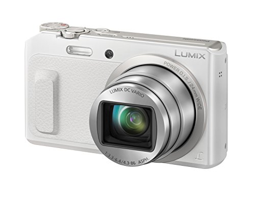 "Panasonic Lumix DMC-TZ58 Cámara compacta 16 MP 1/2.33"" Mos 4608 x 3456 Pixeles Blanco - Cámara Digital (16 MP, 4608 x 3456 Pixeles, Mos, 20x, Full HD, Blanco)"