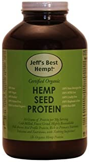 Jeff's Best Hemp! RAW Organic Finest Grind Cold-Milled Hemp Seed Protein 16oz