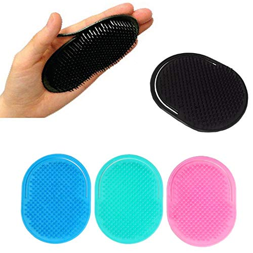 NOP Zachte Shampoo Kam Pocket Mannen Snor Palm Scalp Massage Kam 4 Kleur Reizen Draagbare Haar Kam Borstel Haar Styling Gereedschappen