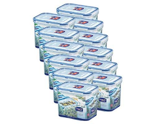 Lock&Lock | HPL812 Vorratsdosen & Frischhaltedosen | Füllmenge 1,0L | BPA frei & spülmaschinengeeignet | luftdicht & wasserdicht | Aufbewahrungsdose & mit 4fach Klickverschluss - 12er SET
