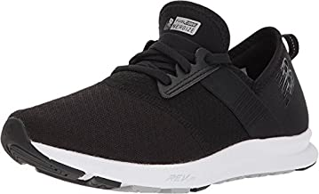 New Balance Women's FuelCore Nergize V1 Sneaker, Black/White/Mesh, 9 Wide