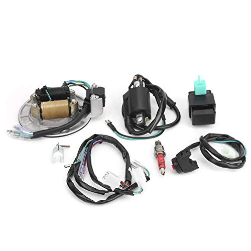 aqxreight - Arnés de cableado de encendido, bobina de encendido de PVC, estator CDI, arnés de cableado, kit de bujía apto para XRCRF 50 50 cc-125 cc