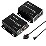 TESmart HDMI KVM Extender Long Distance 393 feet Over CAT5/6 Cable KVM HDMI Extender, 1080P 60Hz Compact and Smart one to Many KVM Extender, Easy to Set Up and Good Stability