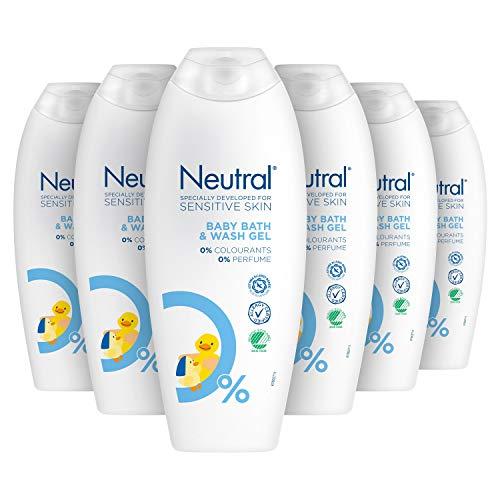 Neutral Babywasgel Parfumvrij 6 x 250 ml Voordeelverpakking