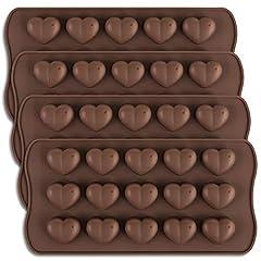 Idea Regalo - homEdge - Stampo per cioccolatini a forma di cuore con 15 cavità, in silicone, per San Valentino, adatto per cioccolato, dolci e caramelle