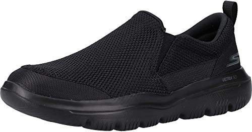 Skechers Go Walk Evolution Ultra-impec, Men's Slip On Trainers, Black (Black Textile Bbk), 10.5 UK (45 EU)