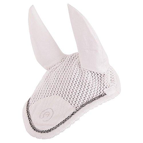 Anky® Fliegenhaube Ohrenhaube geflochten Strass (Pony, Weiss)