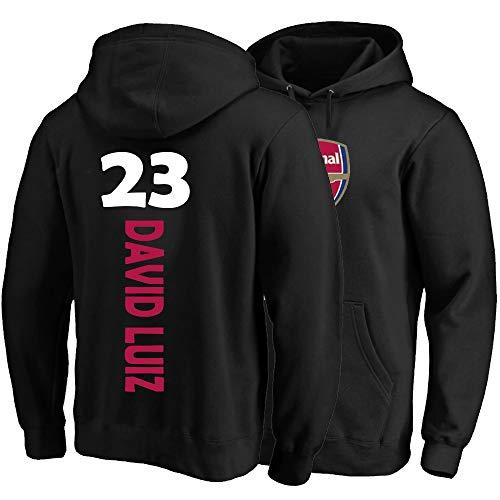 XH Sudadera con Capucha Deportiva David Luiz # 14 Menores con Capucha para Mujer Jerseys Jerseys Sweatshirts Flow Winter Chaqueta Caliente S-3XL (Color : Black, Size : Small)