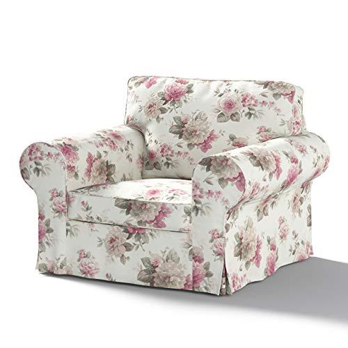 Dekoria Ektorp Sesselbezug Sofahusse passend für IKEA Modell Ektorp beige- rosa