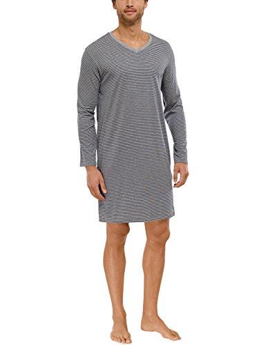 Schiesser Herren Nachthemd 1/1 Schlafanzugoberteil, Grau (grau-Mel. 202), Small (Herstellergröße: 048)