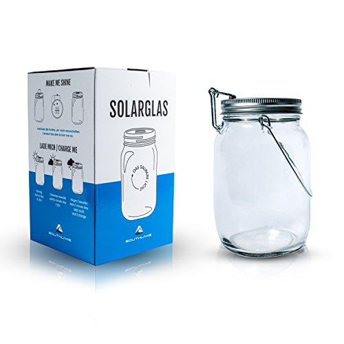 Das saubere Licht – Solarglas von Southlake welches als Solarlampe/Laterne/Solar Sun Jar/Garten-lampe für Balkon oder Garten genutzt wird. Alternative für gewöhnliche Solarleuchte