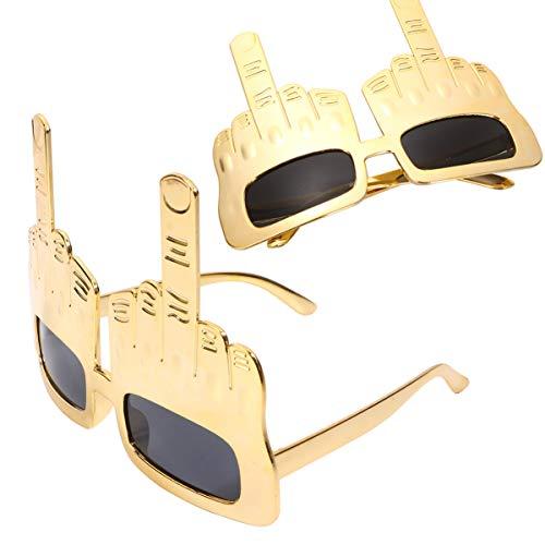 Kisangel 2 Stück Kreative Mittelfinger Flip Hand Hand Finger Alberne Lustige Neuheit Sonnenbrille für Party Selfie Requisiten