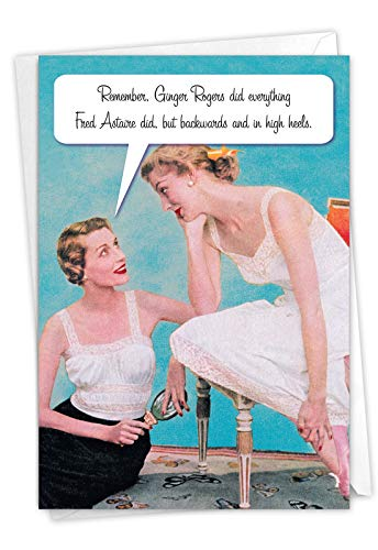 NobleWorks - Happy Mother's Day Card with Envelope - Funny, Retro Greeting Card for Mom, Stepmom - M is for Mother 0073