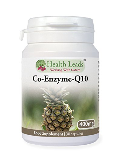 High Strength Coenzyme Q10 (CoQ10) 400mg x 30 Capsules (100% Additive Free Supplements)