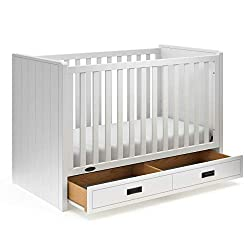 This image shows Graco Cottage 3-in-1 that is one of the best cribs with storage underneath in my review