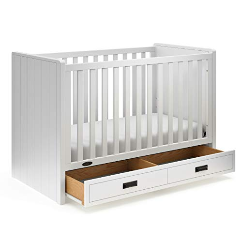 Graco Cottage 3-in-1 Convertible Crib, White