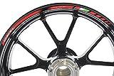 IMPRESSIATA Ducati Diavel Motorrad Felgenrandaufkleber SpecialGP Rot Komplettset Aufkleber Sticker