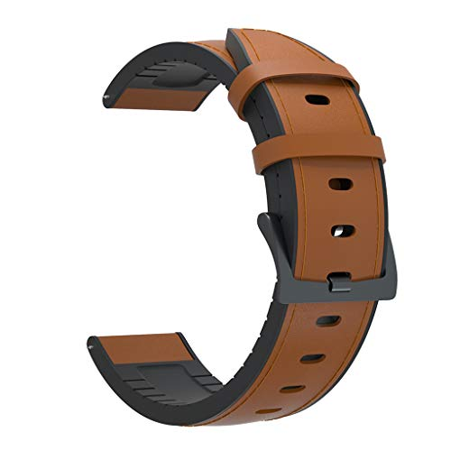 YOKING Huawei- GT2 Silicona 46 mm + pulsera de piel, pulsera para hombre, pulsera para mujer, accesorios de reloj