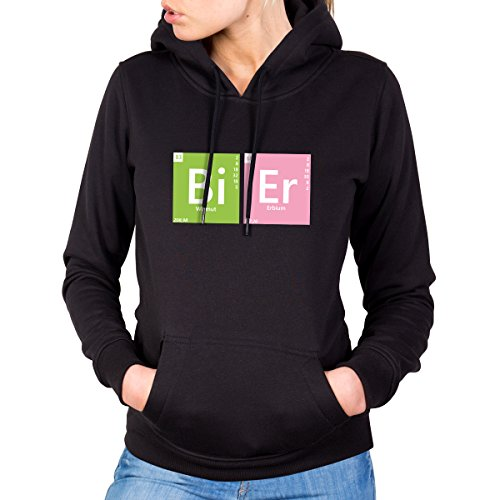 JUNIWORDS Damen Hoody - Periodensystem Worte -
