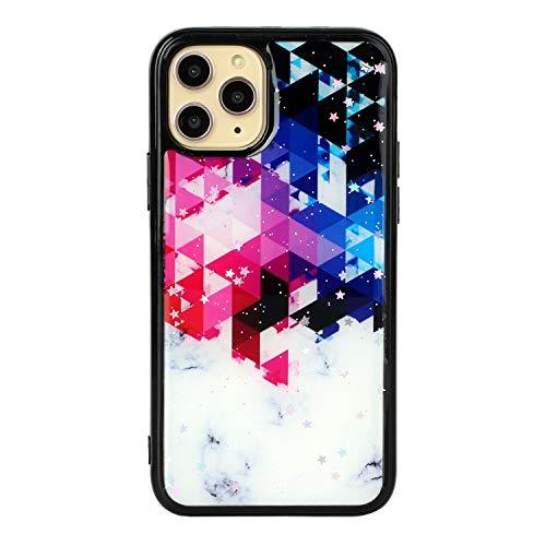 HengJun - Funda para iPhone 11 Pro MAX, Marble Slim, a Prueba de Golpes, Flexible, Parachoques, TPU + PC, Funda Blanda Trasera, Funda de Goma, Silicona - Cuadrícula Colorida