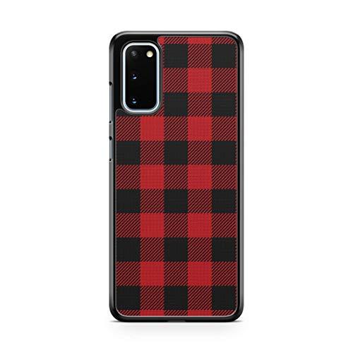 Red Plaid Case For Samsung Galaxy S21 Ultra S20 Plus S20 FE 5G Case Custom Plaid Christmas Holidays Buffalo Plaid Phone Cover A3