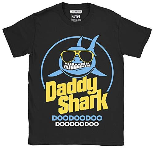 6TN Hombre Papá tiburón Doo Doo Doo Doo Doo Camiseta (XXL, Negro)