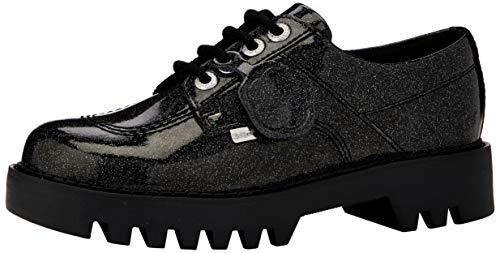 Kickers Kizziie, Zapatos de Cordones Derby para Mujer, Negro Negro Negro Negro Blk Blk, 40 EU