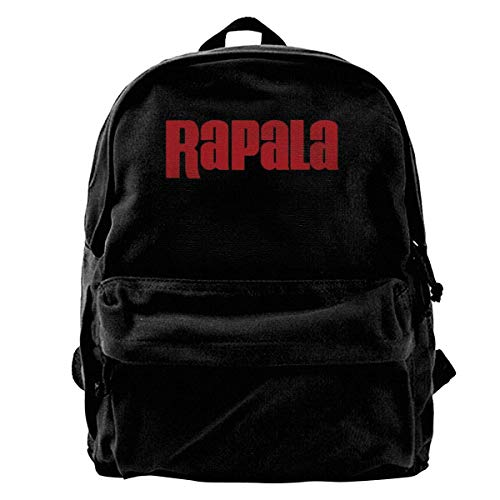Yuanmeiju Canvas Rucksack Rapala Pro Bass Fishing Canvas Rucksacks for Unisex