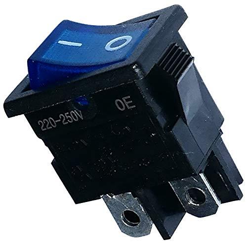 AERZETIX - Interruptor - Pulsador - Conmutador - Boton Basculante - DPST - ON-OFF - 6A/250V - 2 posiciones - C10738