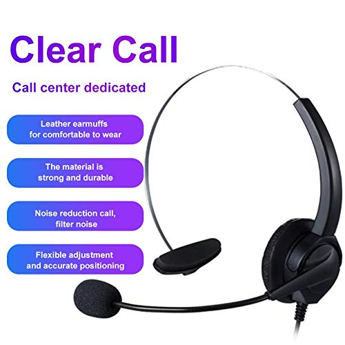 Purchase Godya USB Headset with Microphone, Wired Headset Lightweight Comfortable USB Headphone with...