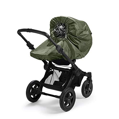 Elodie Details Universal Regenschutz für Kinderwagen/Buggy mit Sichtfenster - Rebel Green, Grün