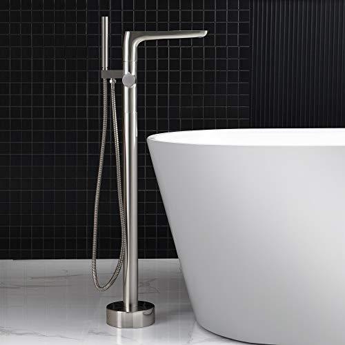 WOODBRIDGE BN Freestanding Tub Faucet, F-0014 Brushed Nickel